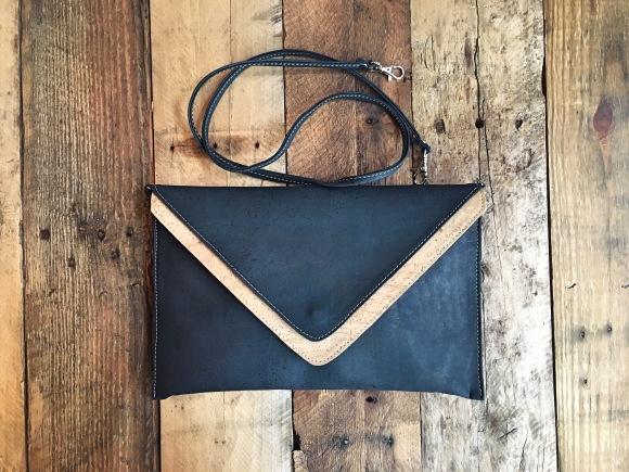 Rok Cork luxe envelope clutch
