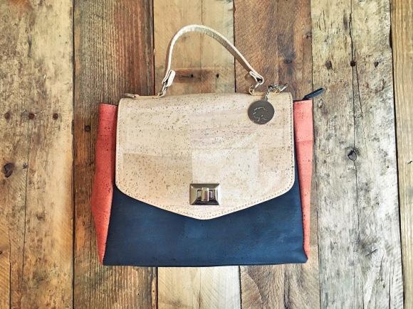 Maya medium cork crossbody satchel