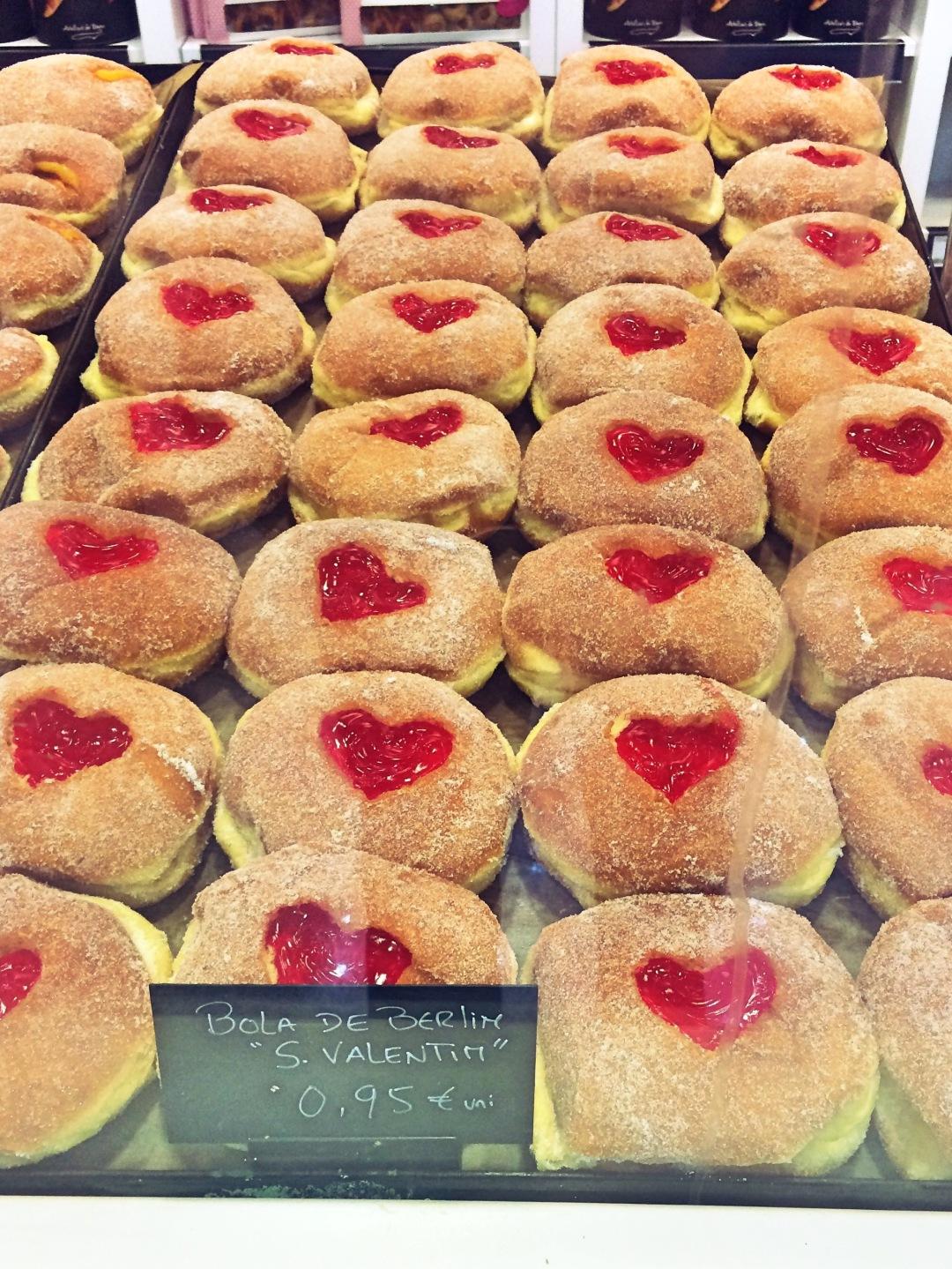 Valentine's Day bolas de Berlim
